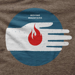 Firehand t-shirt in the Moving Mountains store